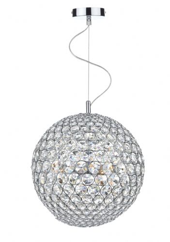 Fiesta 8 Light 50CM Pendant Polished Chrome (Class 2 Double Insulated) BXFIE0850-17